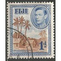 Фиджи. Король Георг VI. Пальмы. 1938г. Mi#93.