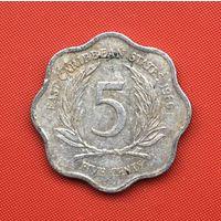 74-29 Восточные Карибы, 5 центов 1986 г. Единственное предложение монеты данного года на АУ
