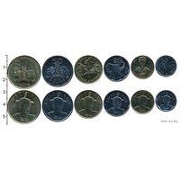 Свазиленд набор 6 монет 2015 UNC
