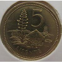 Лесото 5 лисенте 2006 г. В холдере (gk)