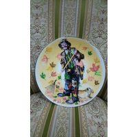 Клоун. Тарелка коллекционная, номерная. Ограниченная серия. 21 см.