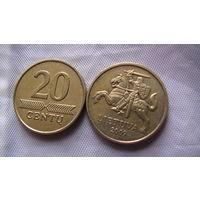 Литва 20 центов 2009 г.  распродажа