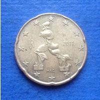 Италия 20 евроцентов 2011
