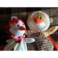 Детские рюкзачки снеговик и львенок