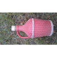 Бутыль винная в декоративной оплетке СССР