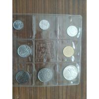 Сан-Марино официальный набор 1973 года (500 лир - серебро),