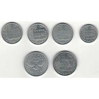 W: Французская Полинезия 1 франк, 2 франка, 5 франков, Новая Каледония 5 франков (805)