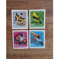 Швейцария. 1969. Фауна. Птицы