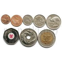 Папуа-Новая Гвинея 8 монет 2001-2008 годов. Животные