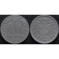 YS: Германия, 10 пфеннигов 1919, цинк, KM# 26 (2)