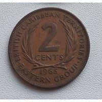 Восточные Карибы 2 цента, 1965 7-13-4