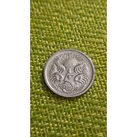 Австралия 5 центов 1989 г ( средней возраст )