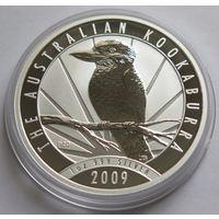 """Австралия 2009 серебро (1 oz) """"Кукабарра"""""""