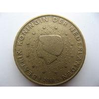 Нидерланды 50 евроцентов 2001г.