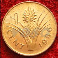 7805:  1 цент 1986 Свазиленд