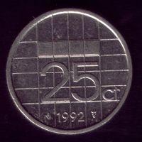 25 центов 1992 год Нидерланды