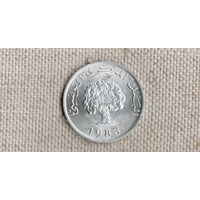 Тунис 5 миллимов 1983 /флора//(GB)/