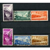Испания - 1958 - Железная дорога - [Mi. 1129-1134] - полная серия - 6 марок. Гашеные  и MH.  (Лот 69o)