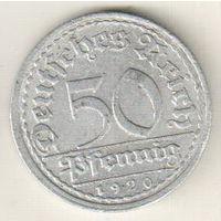 Германия 50 пфенниг 1920 А