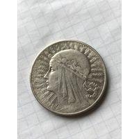 10 злотых 1932 без знака МД