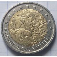 Италия 2 евро, 2005 1 год с момента подписания европейской Конституции             ( 6-7-1 )