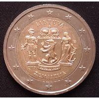 """Литва 2 евро 2019 Жемайтия (cерия """"Литовские этнографические регионы"""") UNC из ролла-"""