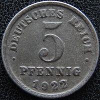 YS: Германия, 5 пфеннигов 1922G, KM# 19 (2)