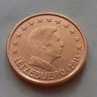 1 евроцент, Люксембург 2014 г., AU