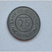 Гайана 25 центов, 1967 6-12-27