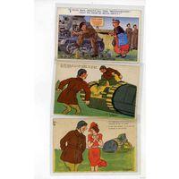 ПМВ  открытки СОЮЗНИКИ: ТАНКИ пропаганда (6)
