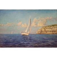 """""""Море"""" копия Адамова, картина маслом 40х60 см9"""