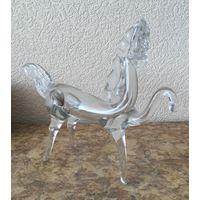 Статуэтка (фигурка) стеклянная Белая Лошадь (мустанг)