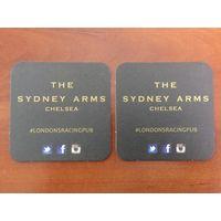 Подставка под пиво Sydney Arms Pub /Великобритания/