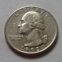 25 центов, США 1993 D
