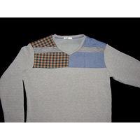 Мужской очень теплый пуловер испанского бренда H&C на утеплителе р.56