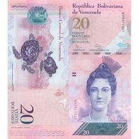 Венесуэла 20 боливар 2014г. Пресс UNC. распродажа