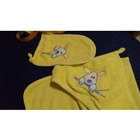 Полотенце - уголок + рукавичка-мочалка