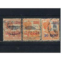 NL Колонии Нидерландская Индия (Индонезия) 1921 Вильгельмина Надп Стандарт #132-4