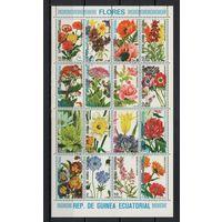Экваториальная Гвинея/1979/Цветы/Растения/Флора/СТО/ Мини-лист/