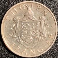YS: Албания, 1 франг 1937, серебро, KM# 16
