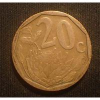 Южная Африка. ЮАР. 20 центов 2003 год
