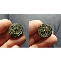 Античная Индия, Кушанское Царство, царь Сотер Мегас, 80-90 годы н.э., бронзовая тетрадрахма.