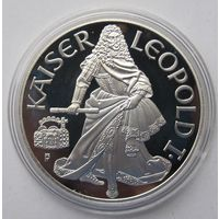 Австрия 100 шиллингов 1993 Леопольд I - серебро 20 гр. 0,900