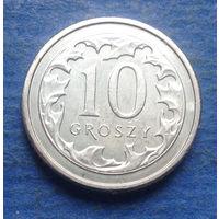 Польша 10 грошей 2018