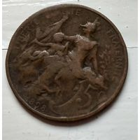 Франция 5 сантимов, 1898  2-6-31