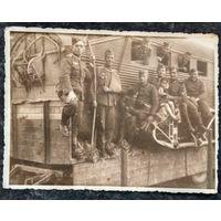 Фото времен оккупации. 1940-е. 8х11 см.