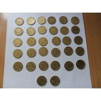 Монеты Франции-20сантимов (по годам)--цена за монету