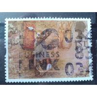 Англия 1994 Сказка, кролик бросает письмо Михель-1,5 евро гаш