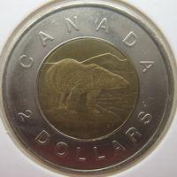 Канада 2 доллара 1996 г. В холдере