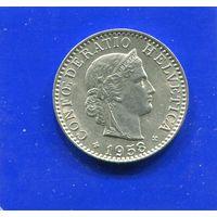 Швейцария 20 раппен 1958